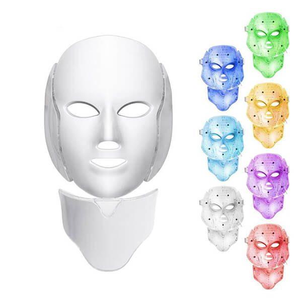 ماسک سفید صورت و گردن ال ای دی LED FACIAL MASK